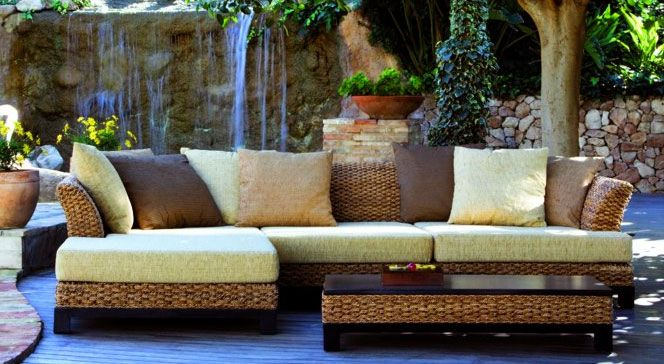Set sof y mesa rat n natasha terraza y jardin for Mesa terraza rattan