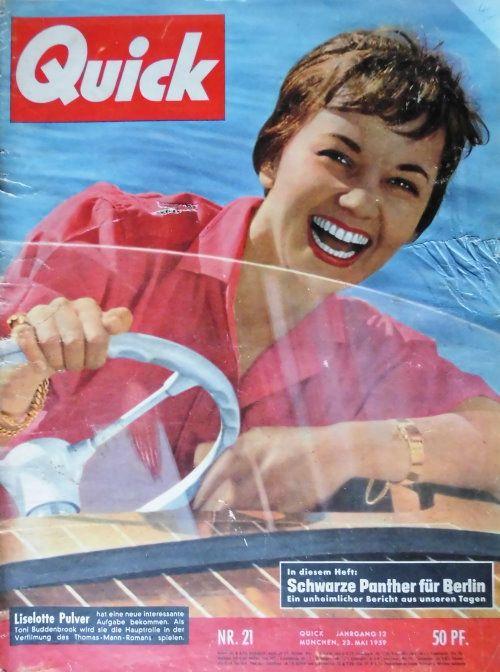 Quick – Mai 1959 Originalausgabe Nr. 21 des Magazins QUICK vom Mai 1959 in gutem Zustand. Titelbild LIESELOTTE PULVER. www.starcollector.de