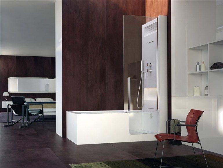 Design Bagno Con Doccia : Vasca da bagno con doccia con porta elle combi collezione steam