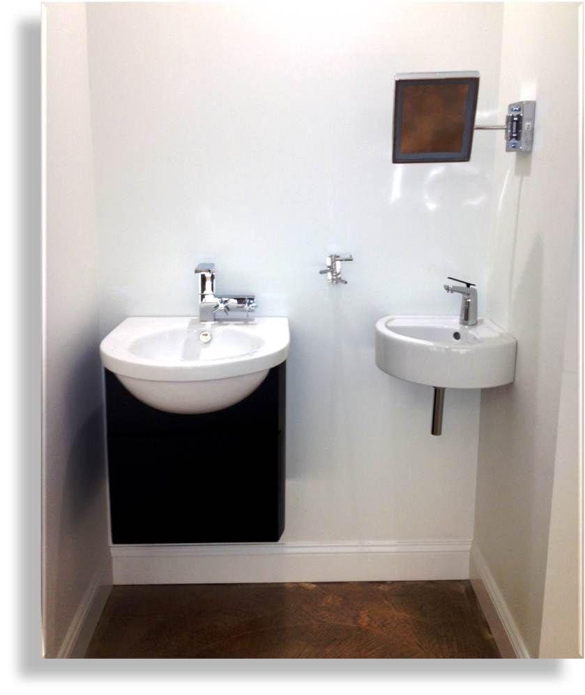 Foto Of Corner Pedestal White Sinks For Small Bathrooms