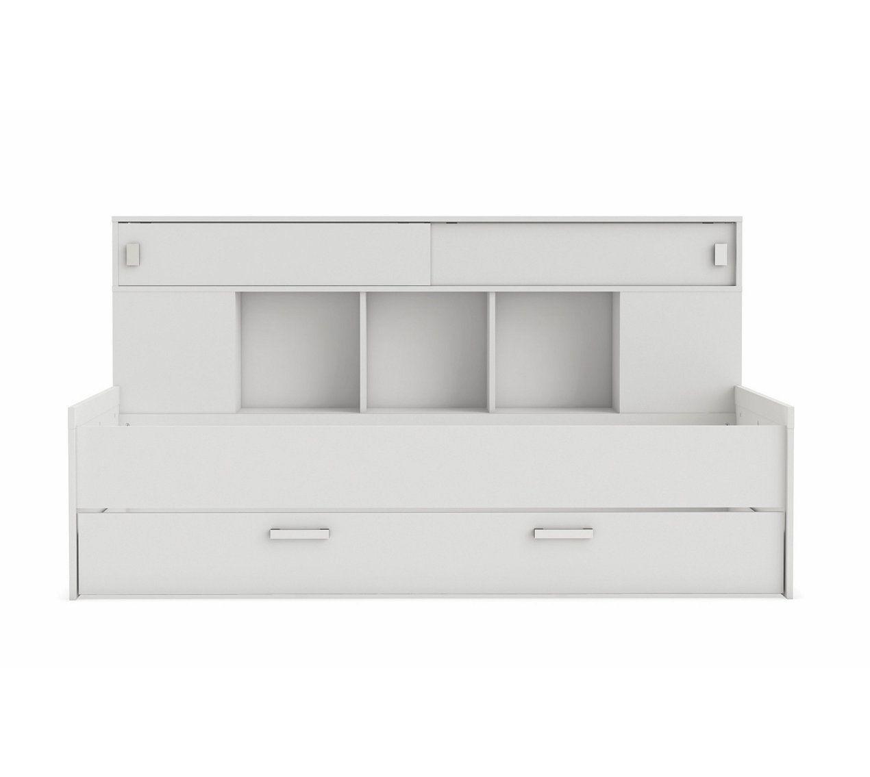 lit 90x200 cm rangements sherwood blanc lit enfant pas cherlit - Lit Enfant Pas Cher