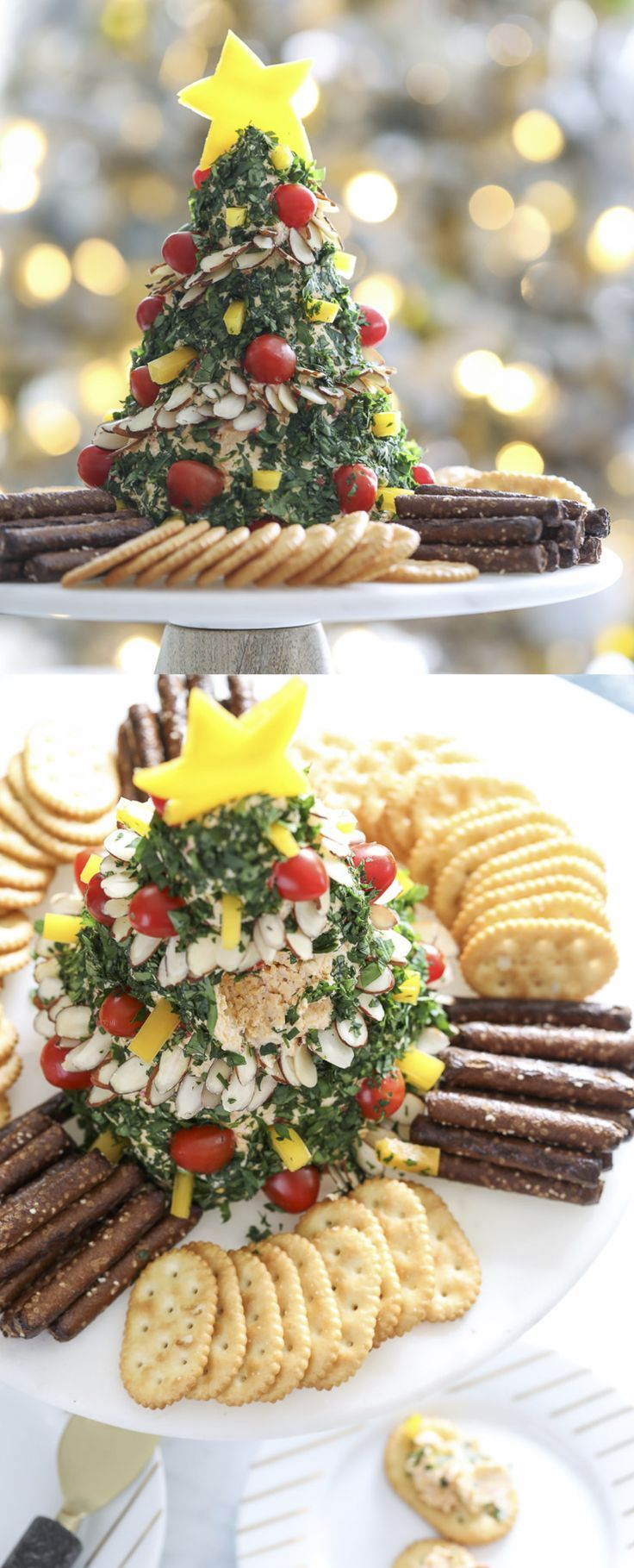 christmas tree cheese ball appetizer recipe christmas appetizer recipe cheeseball - Pinterest Christmas Appetizers