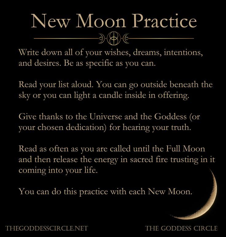 6 New Moon Rituals - The Goddess Circle
