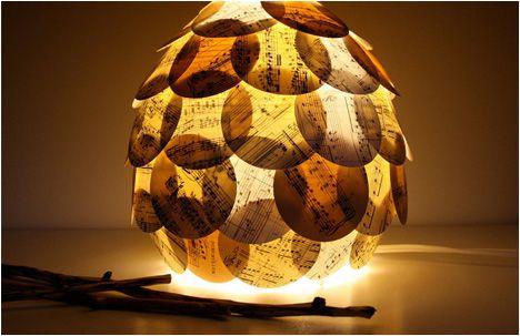 Lámpara de papel de partituras musicales Adornos, Lugares para