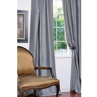 Exclusive Fabrics Signature Light Blue Cotton Silk Blend 108 Inch