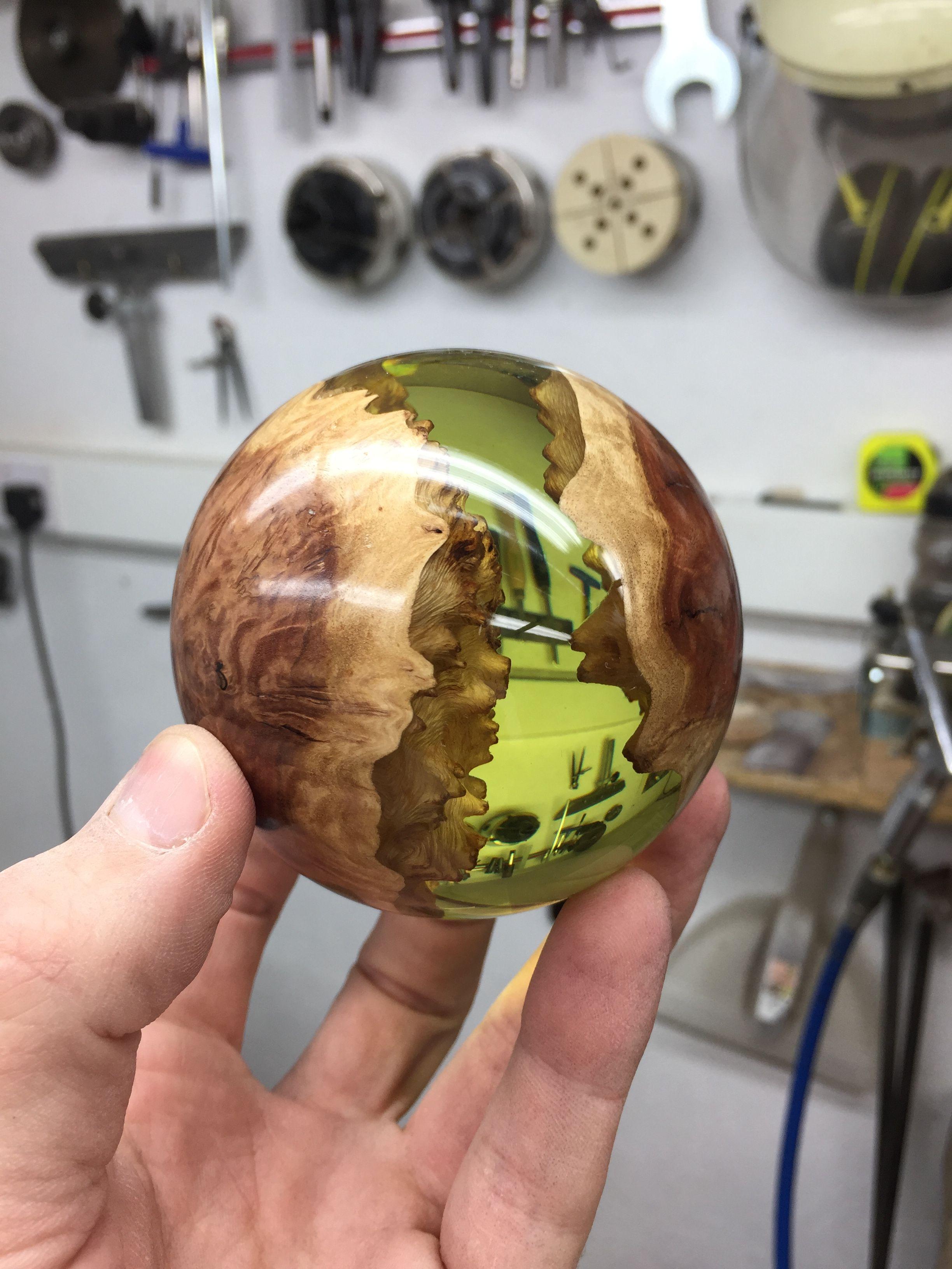 Hybrid Sphere Made By George Watkins Woodturning Wood