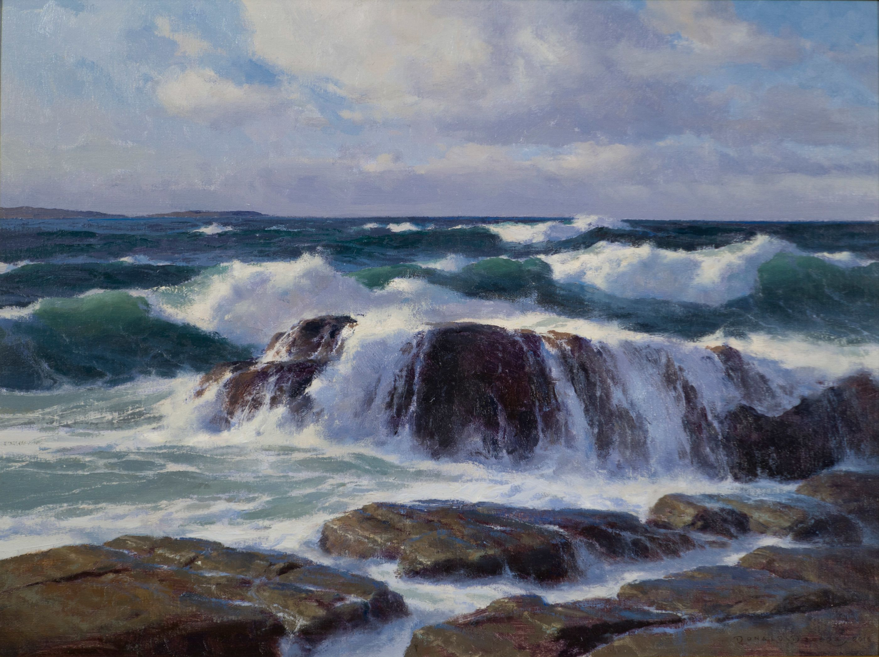 Onrush East Boothbay Maine By Donald Demers Seascape Artwork Seascape Paintings Ocean Painting