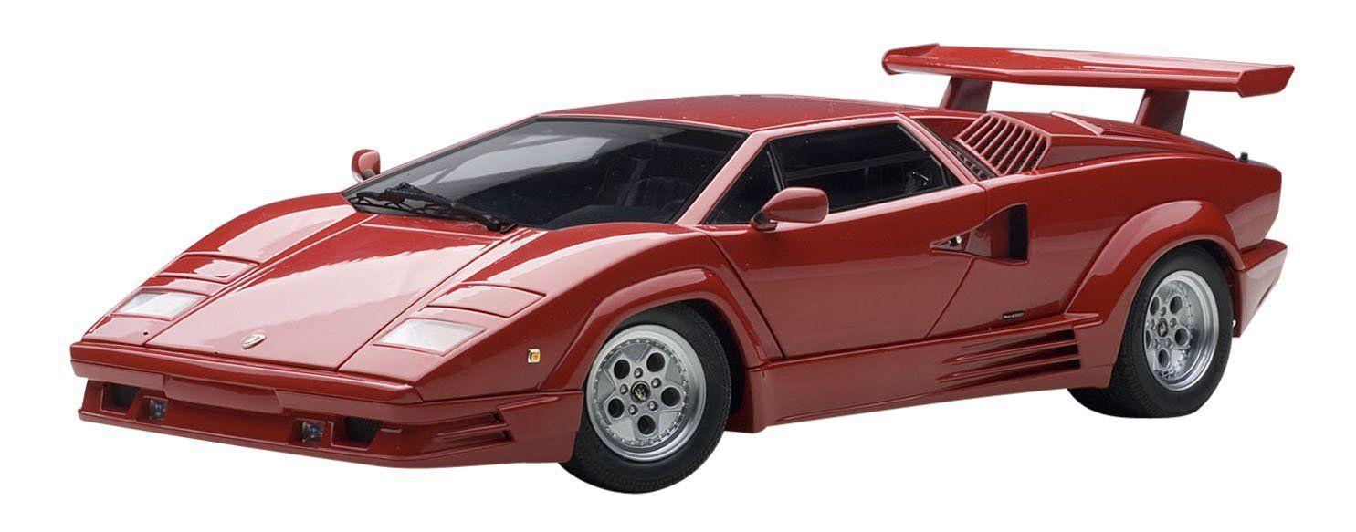 Amazon Com Autoart 1 18 Lamborghini Countach 25th Anniversary Red Toys Games Lamborghini Countach Lamborghini Autoart Diecast