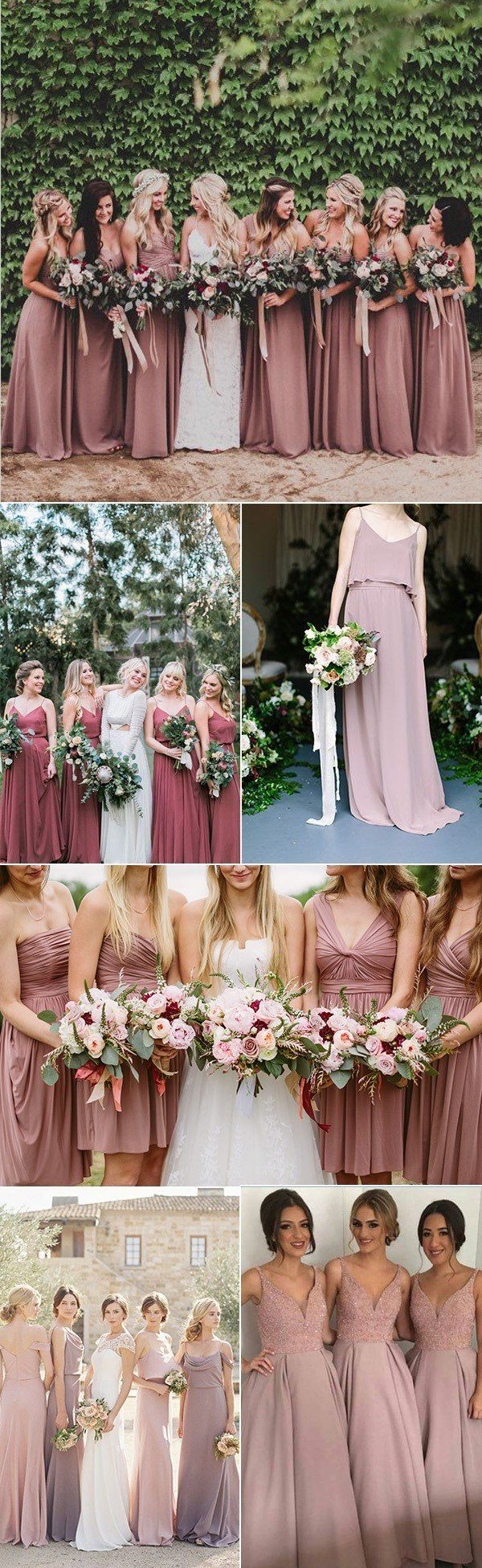 Dusty rose wedding dress  Trending Dusty Rose Wedding Color Ideas for   Save The Date