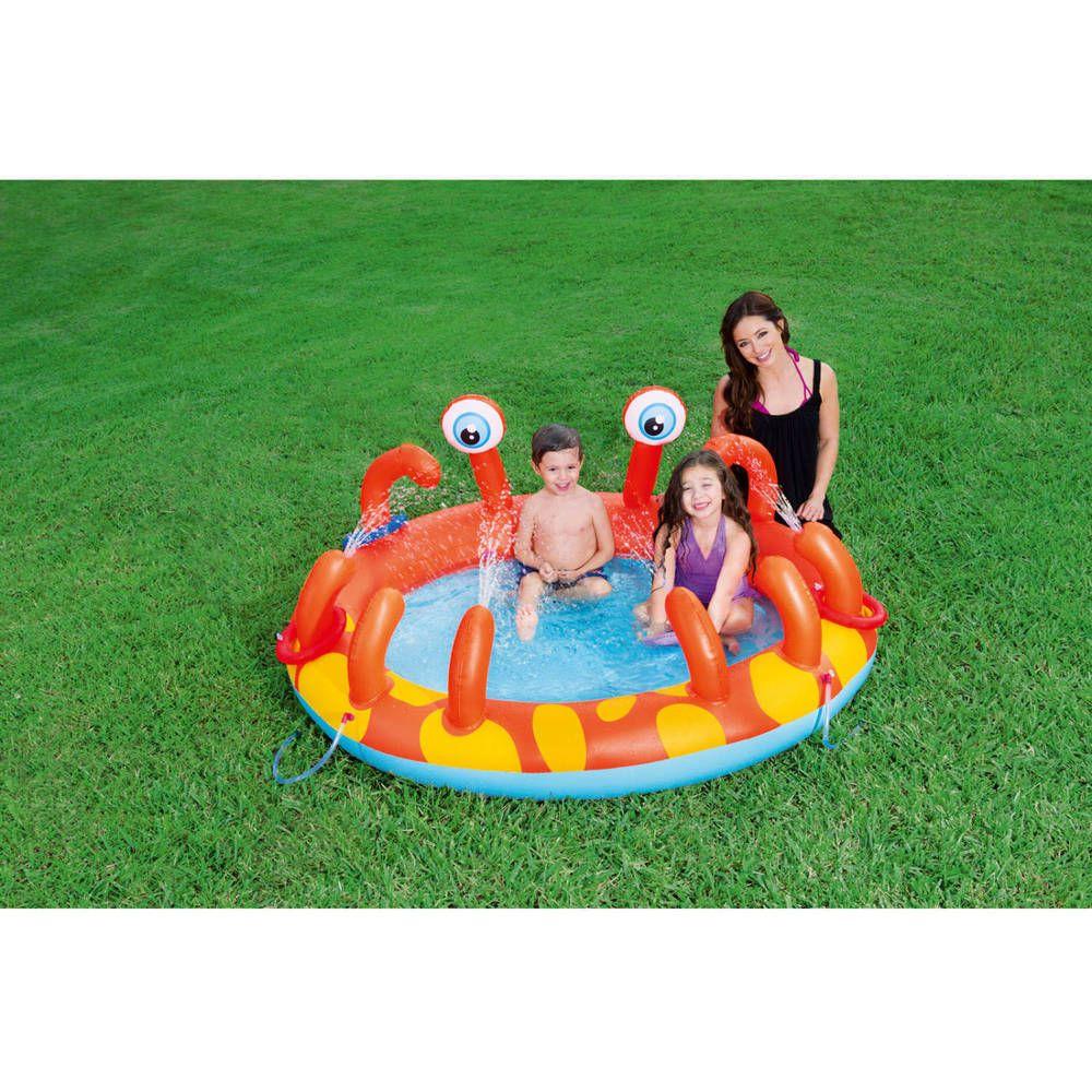 Inflatable Swimming Pool Crab Air Blown Kiddie Play