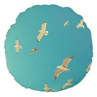 Flying seagulls, beautiful, original pillow