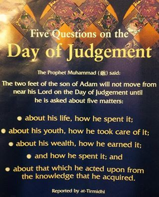 Will Not Be Dismissed From Before His Lord On The Day Of