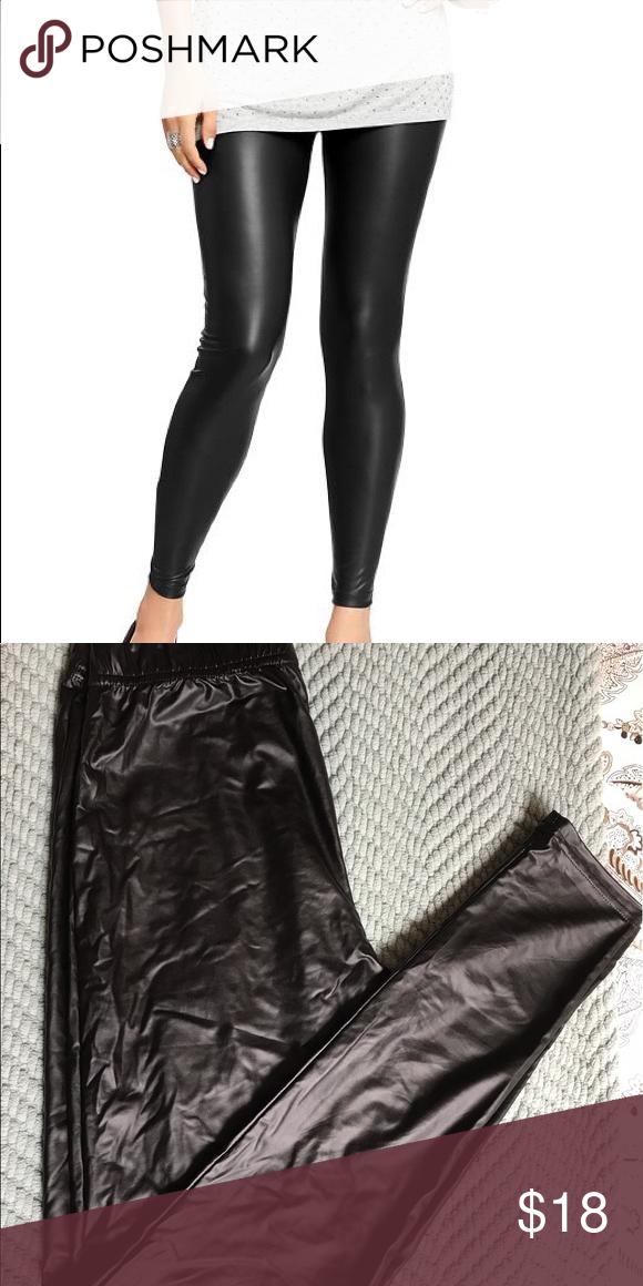 1716ee954bc918 Old Navy Faux Leather Leggings NWOT- Black faux leather leggings. Smoke  free home Old Navy Pants Leggings