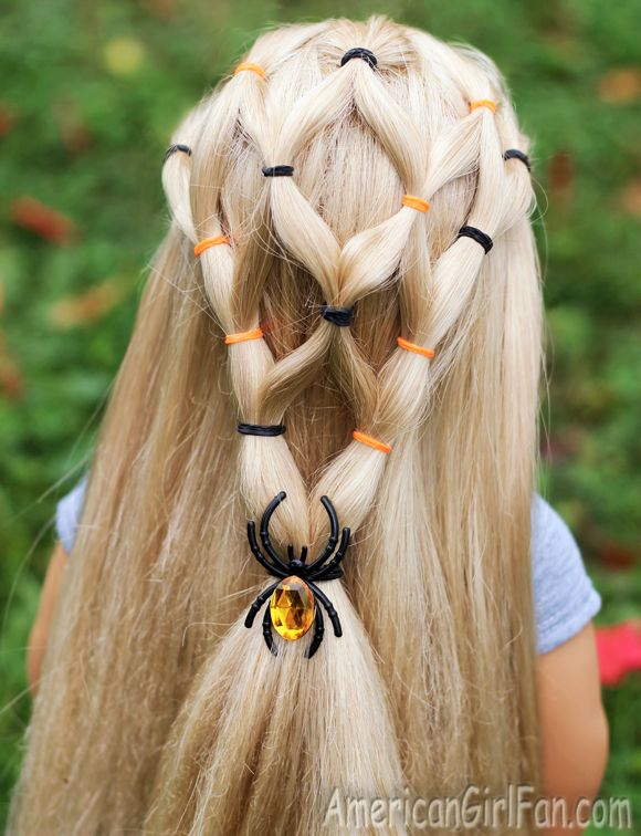Halloween Ponytail Veil For American Girl Dolls Click Through For Tutorial American Girl Doll Hairstyles Halloween Hair American Girl Hairstyles