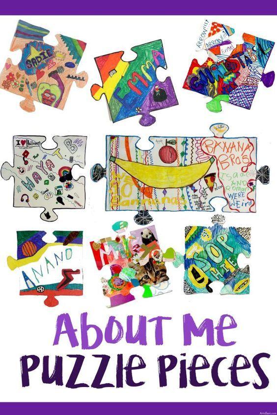 All About Me Collaborative Puzzle Pieces Collaborative Art