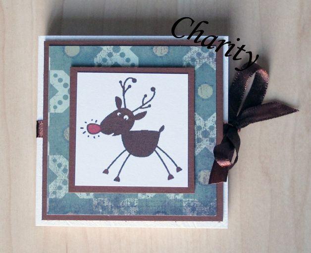 Teebeutel-Heft, Weihnachtskarte, Elch, für einen guten Zweck