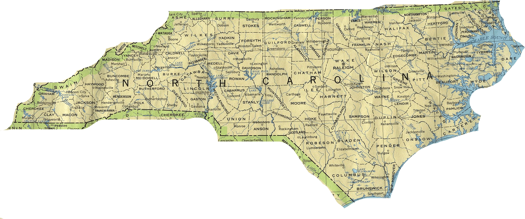 North Carolina State Map My Blog - State map north carolina