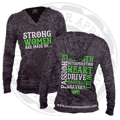 Women Are Strong - Burnout Hoodie (Black) – Hurt Locker Apparel