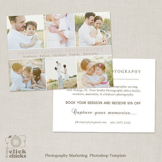 4x6 Promo Card Photography Marketing Template Flyer Postcard Board 003 Instant