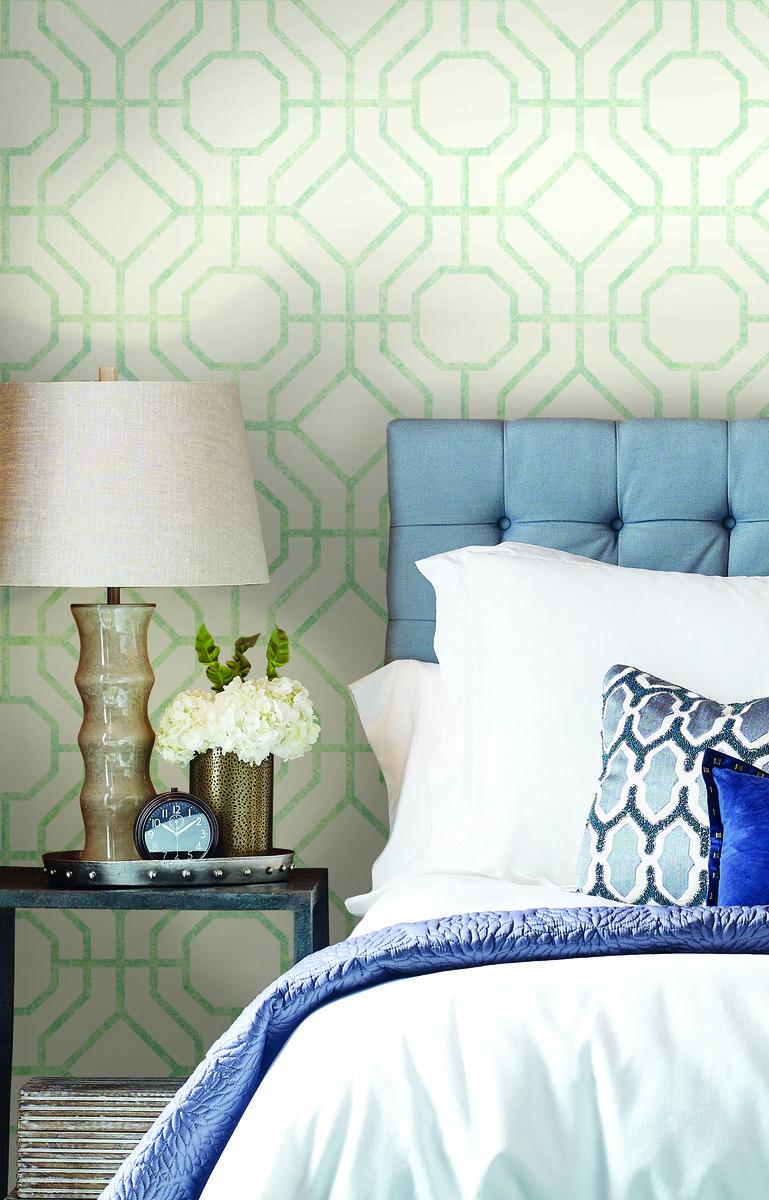 York SO2461 Candice Olson Tranquil Lanai Trellis Wallpaper