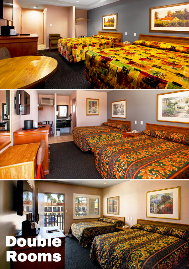 If You Travel With Friends To California Make Sure To Book A Double Room A Dunes Inn Sunset For An Affordable Vacation Hotels Room Room Affordable Vacations