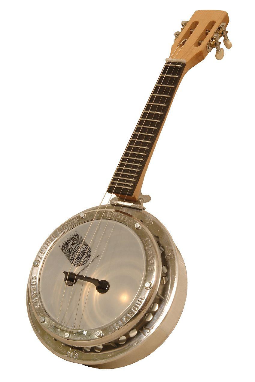 Cumbus Ukulele, 4 Steel Strings, White Face, Natural Pegbox