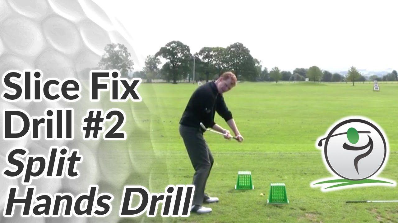 Golf slice fix drill 2 split hands drill youtube