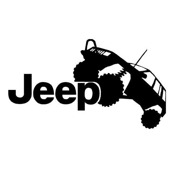 Jeep Offroading Car Vinyl Decal Vinyls Shops And Custom Vinyl - Custom vinyl decals etsy
