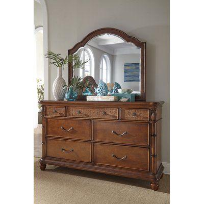 Panama Jack Isle of Palms 7 Drawer Dresser with Mirror Finish: Brown