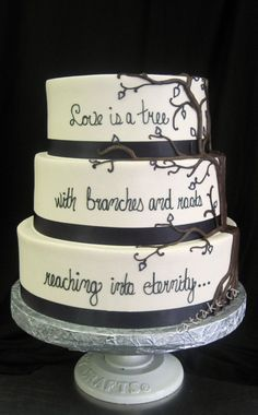 Looking For A Unique Design Your Wedding Cake Let These Gorgeous Typography
