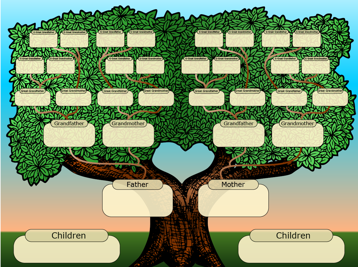 Family tree powerpoint template is a free template with family ...