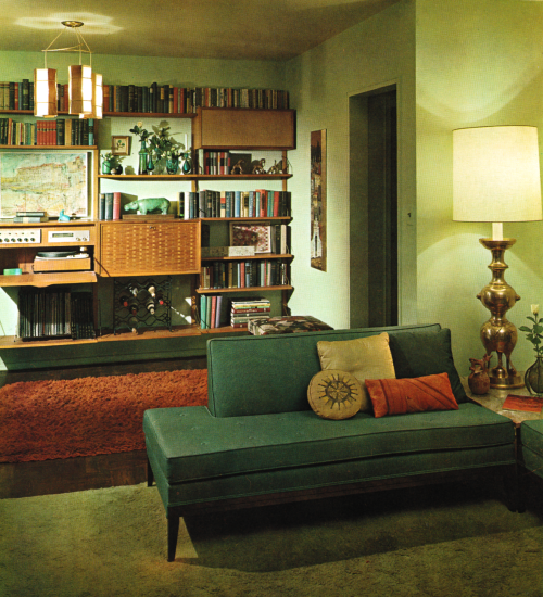 Antique Home Decor Living Room Decorating Ideas: 1960s Living Room, Retro