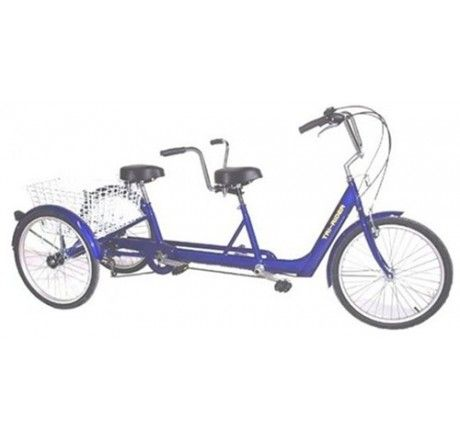 Belize Tri Rider Twin 6 Speed 24 Tandem Adult Tricycle Adult Tricycle Tricycle Trike