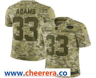 Men s New York Jets  33 Jamal Adams 2018 Camo Salute to Service Stitched NFL  Nike Limited Jersey 025a57157