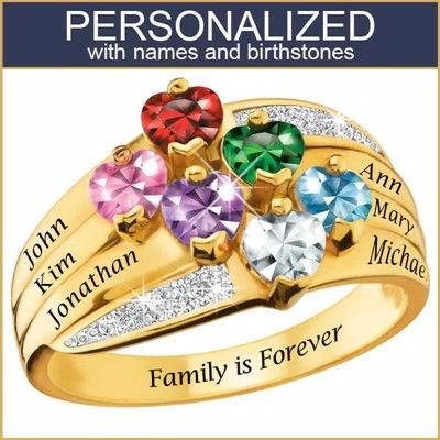 3d1a40c22535a5 Precious Hearts Personalized Birthstone & Diamond Ring - 8017-0046