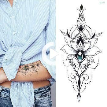 Lotus flower mandala henna mehndi tattoo sexy hand stickers sketches#flower #hand #henna #lotus #man