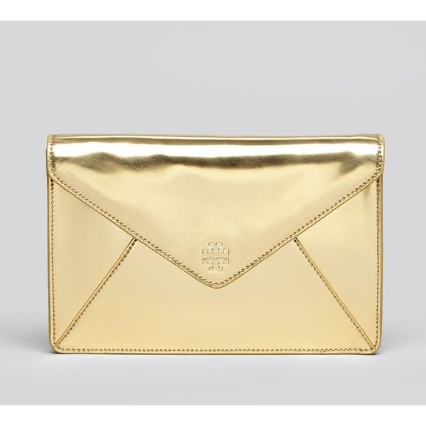d6d83030b1f Tory Burch Clutch - Large Envelope found on Polyvore Large Envelope, Gold  Clutch, Clutch