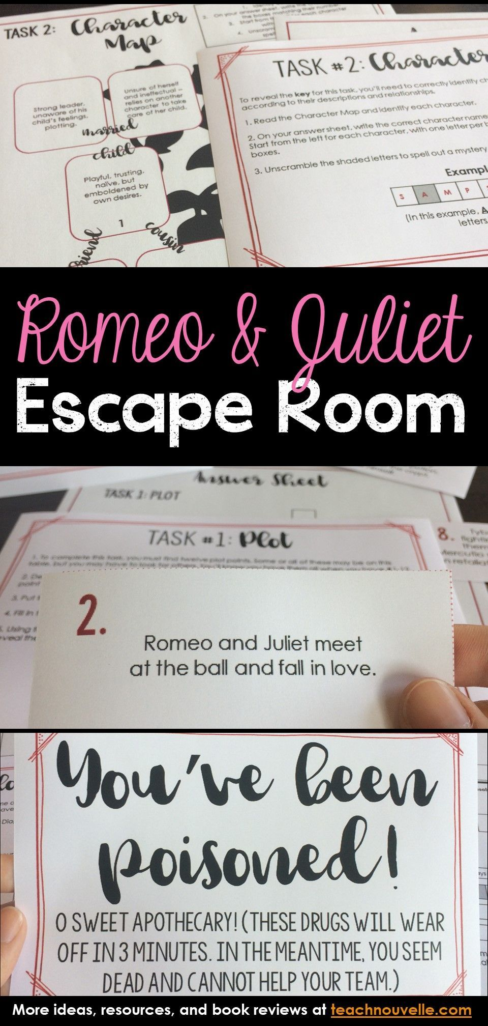 Romeo And Juliet Escape Room Review Activity Activitie Teaching Shakespeare Prologue Act 1 Study Guide Answers