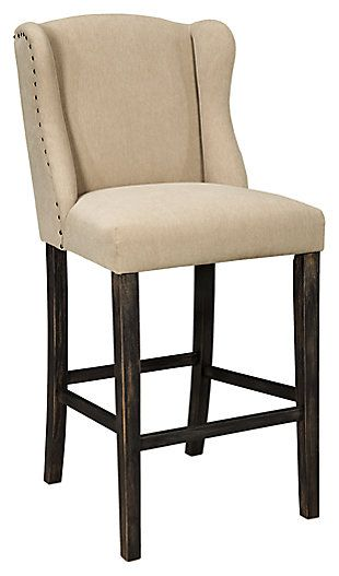 Pair Bed Stools: Moriann Bar Height Bar Stool (Set Of 2) (With Images