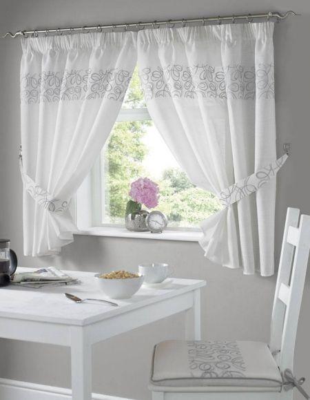 Urban Kitchen Curtains Silver New Black Window