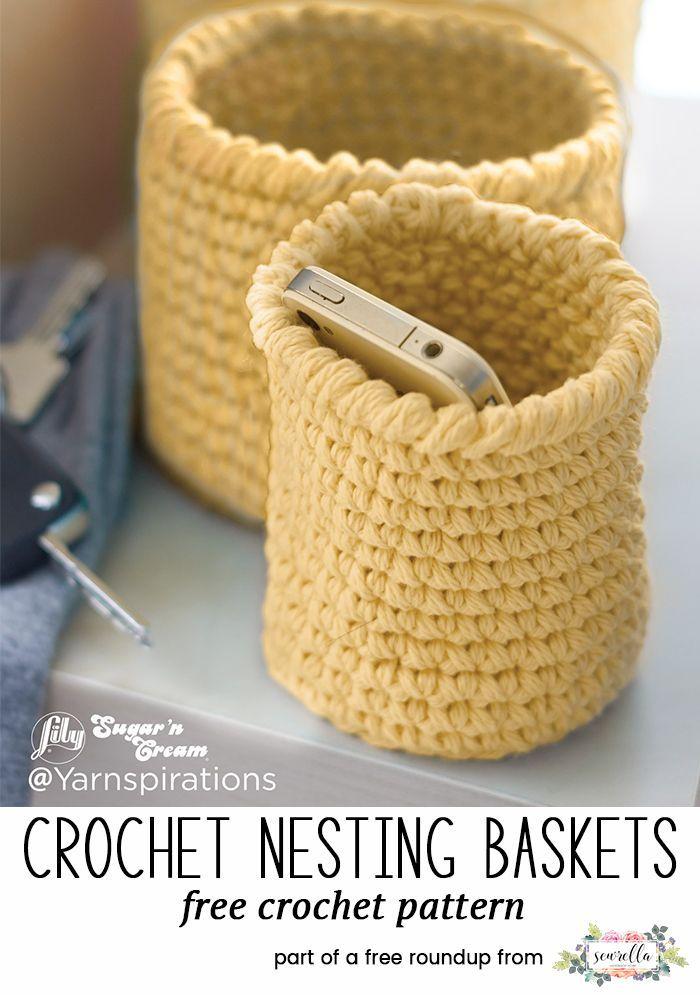 10 Best Crochet Basket Patterns | Trapillo, Floreros y Cestas