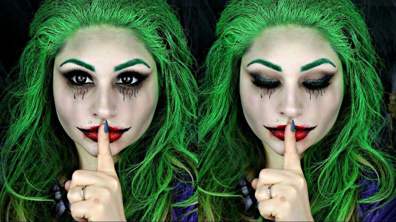 Suicide Squad Female Joker Halloween Makeup Tutorial - Joker-makeup-tutorial