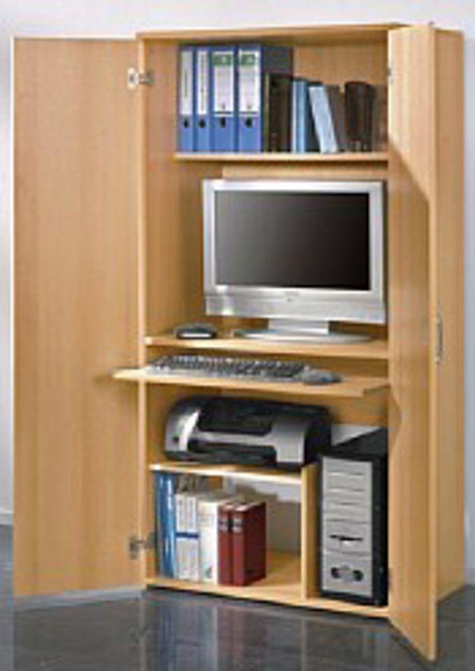 PC-Schrank braun, yourhome Jetzt bestellen unter   moebel - Wohnzimmer In Weis Und Braun