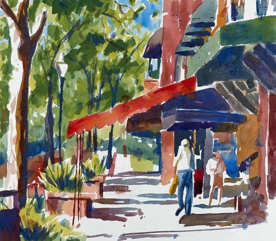 Print Of Original Watercolor Painting Park Avenue Winter Park