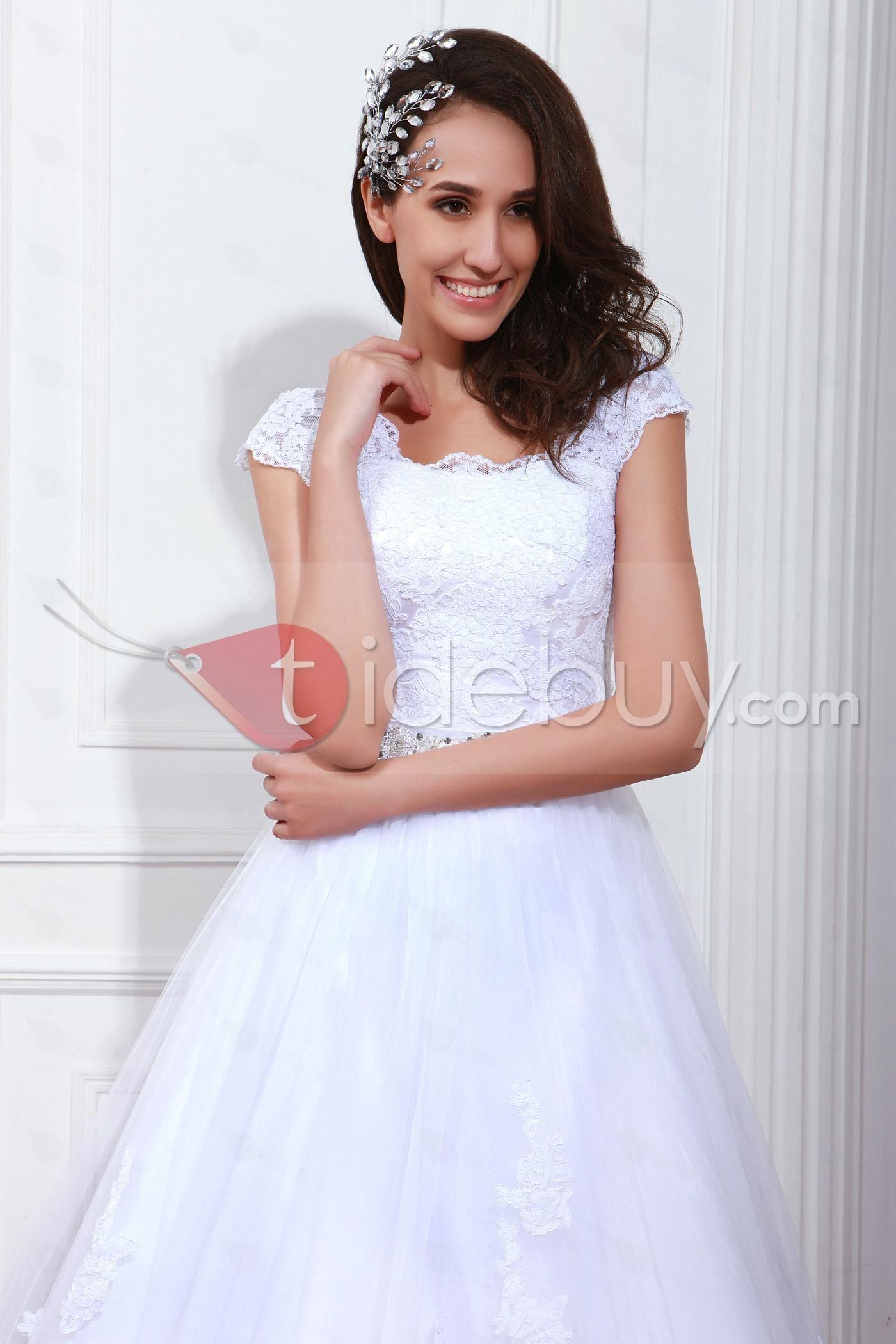 Gorgeous aline floorlength renataus square neckline wedding dress