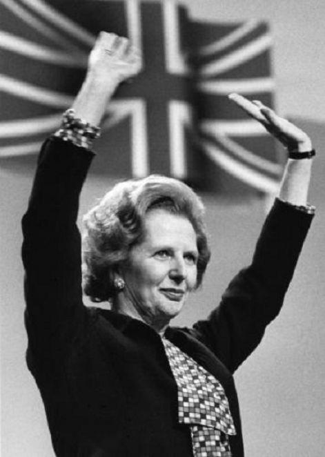 """Prime Minister (1979 - 1990) Margaret Thatcher. Nickname """"Iron Lady"""". Born Margaret Hilda Roberts 13 October 1925, Grantham, England. Died 8 April 2013, London, England"""