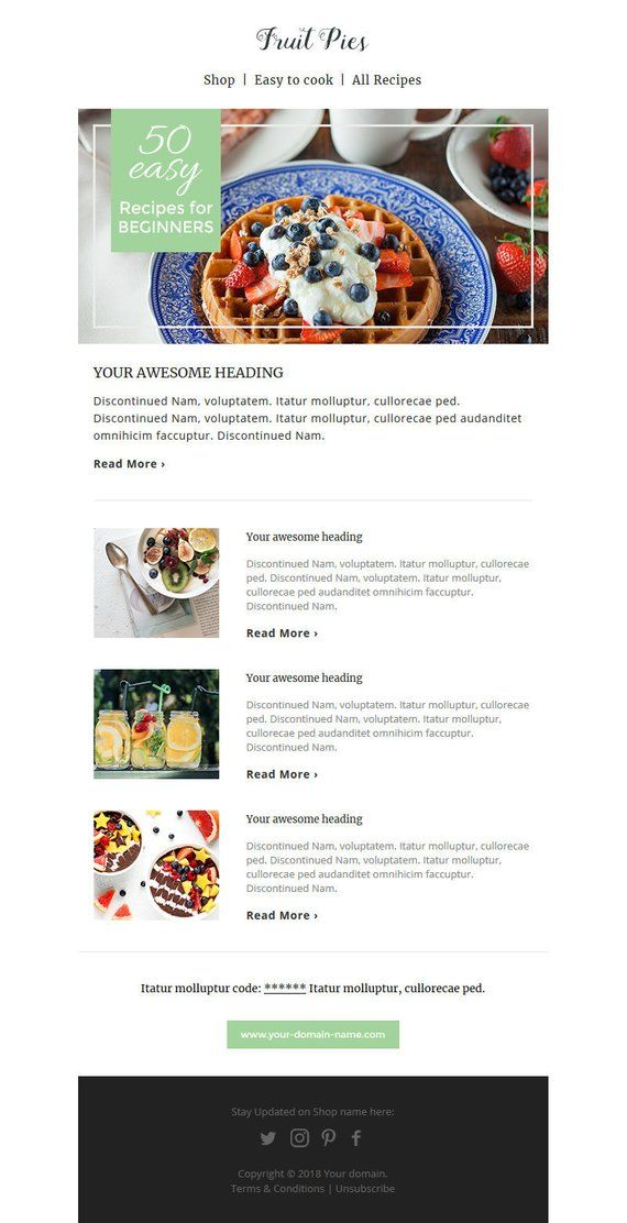 Email Newsletter Responsive Html Email Mailchimp Template Instant