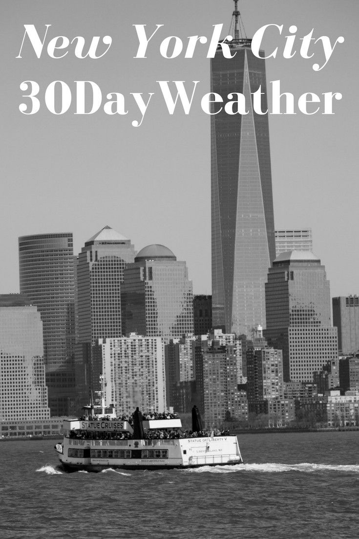 #NewYorkCity 30 Day #Weather #Outlook. See What's Expected