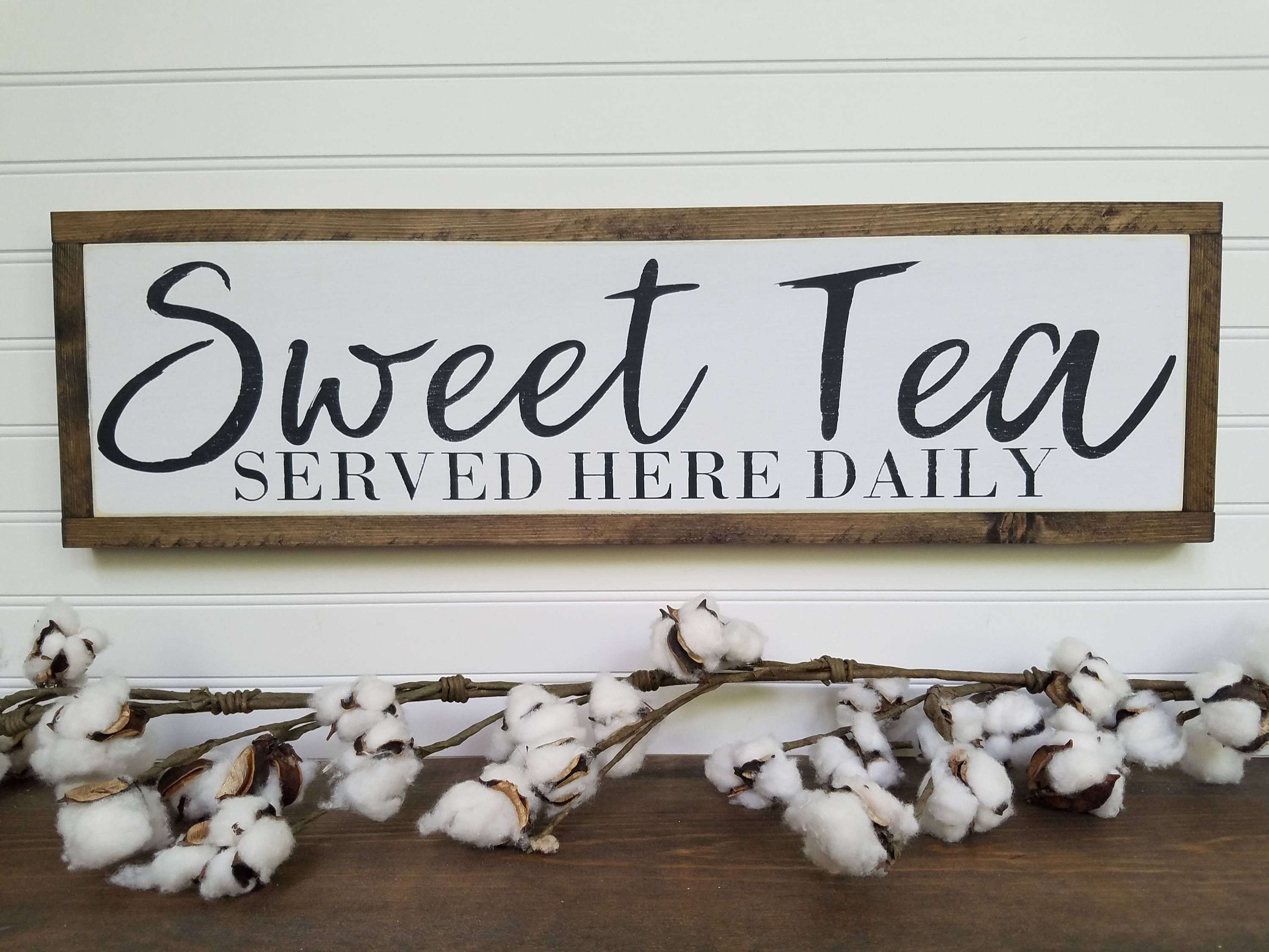 Sweet Tea Sign Kitchen Signs Dining Room Signs