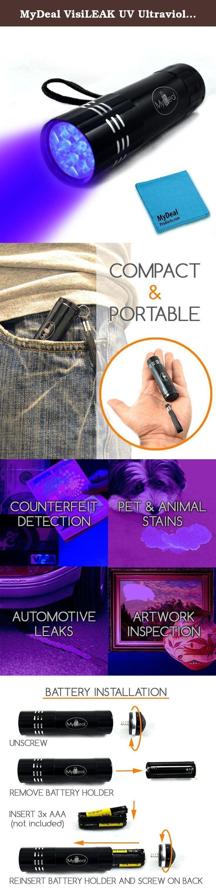 MyDeal VisiLEAK UV Ultraviolet 9 LED Blacklight Pocket